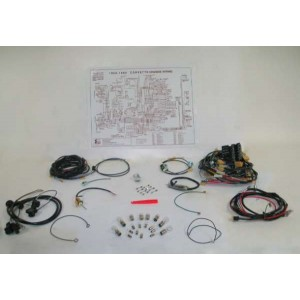 58-59 wire harness kit - manual transmission - deluxe