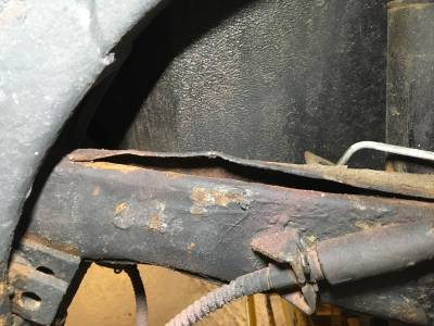 1968 Trailing arm rust