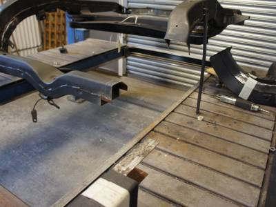 1967 Frame rail and trailing arm pocket repair